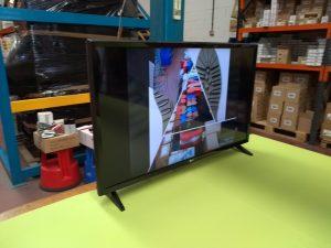 Televisión mostrando un vídeo en carrusel